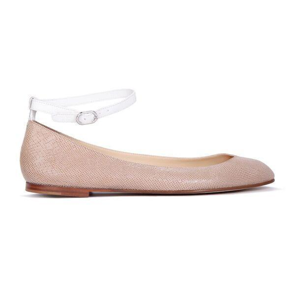 TORINO - Karung Tan + Calf Bianco, VIAJIYU - Women's Hand Made Sustainable Luxury Shoes. Made in Italy. Made to Order.