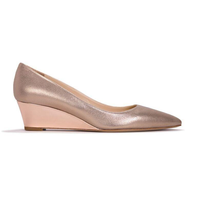 TRENTO - Burma Sabbia Rossata + Metallic Light Copper, VIAJIYU - Women's Hand Made Sustainable Luxury Shoes. Made in Italy. Made to Order.