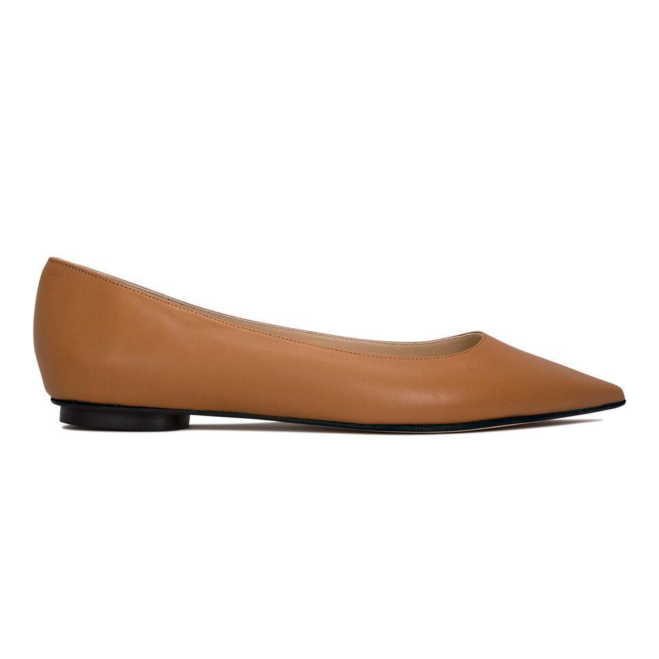 COMO - Nappa Cuoio, VIAJIYU - Women's Hand Made Sustainable Luxury Shoes. Made in Italy. Made to Order.