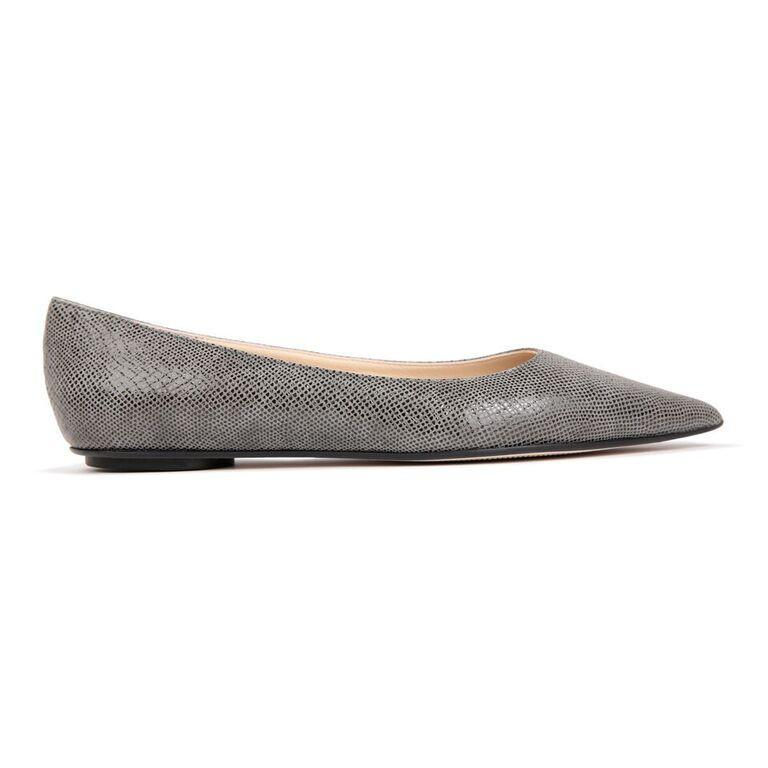 COMO - Karung Anthracite, VIAJIYU - Women's Hand Made Sustainable Luxury Shoes. Made in Italy. Made to Order.