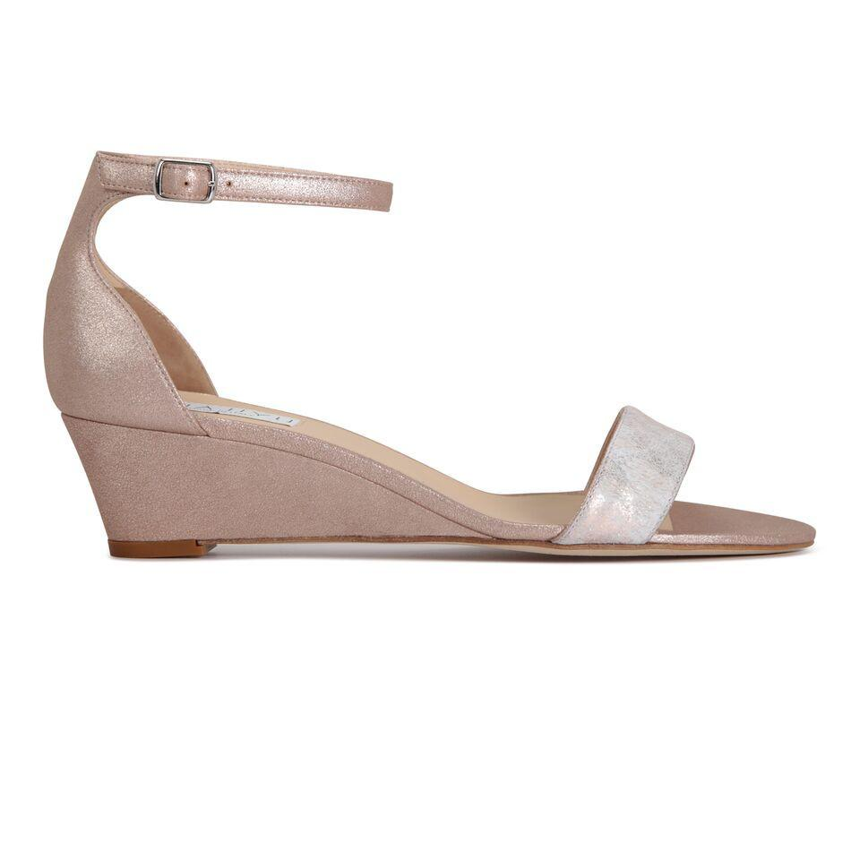 SAVONA - Calf Hair Vintage + Burma Rose Gold, VIAJIYU - Women's Hand Made Sustainable Luxury Shoes. Made in Italy. Made to Order.