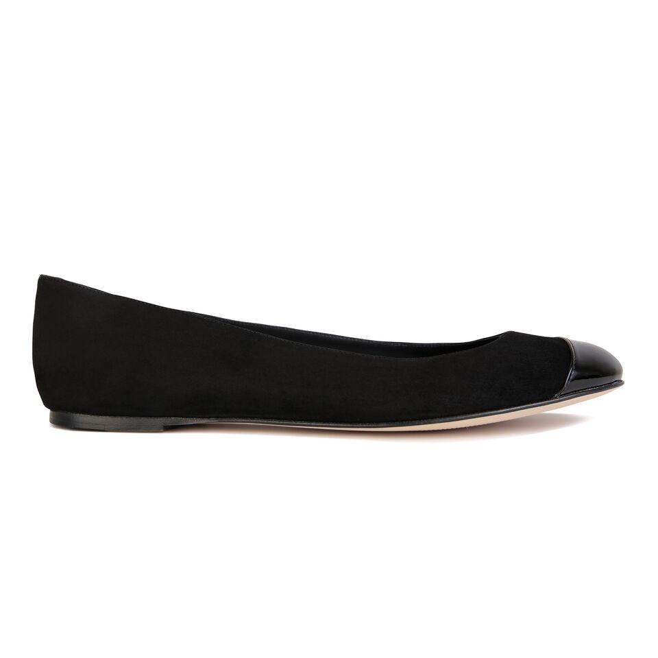 VENEZIA - Velukid Nero + Patent Toe + Back, VIAJIYU - Women's Hand Made Sustainable Luxury Shoes. Made in Italy. Made to Order.
