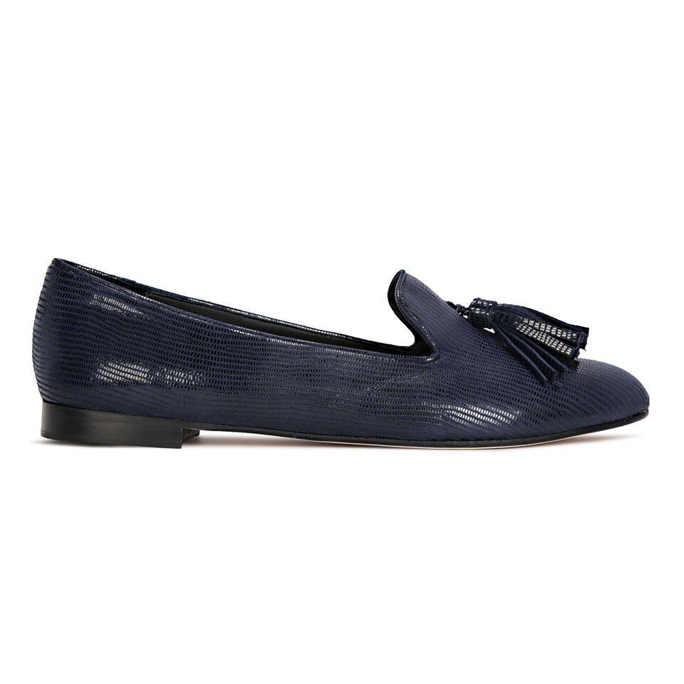 PARMA - Varanus Midnight, VIAJIYU - Women's Hand Made Sustainable Luxury Shoes. Made in Italy. Made to Order.