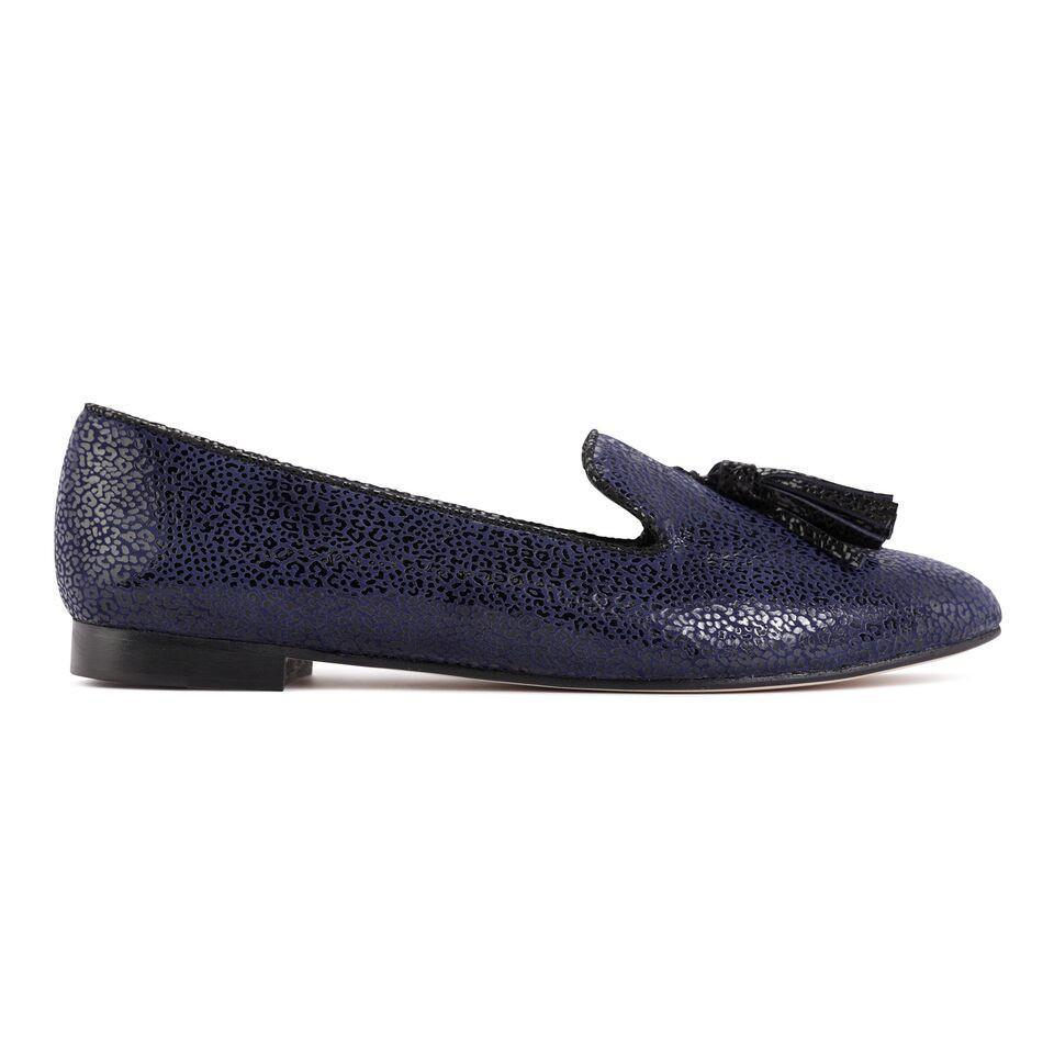 PARMA - Savannah Midnight + Nero, VIAJIYU - Women's Hand Made Sustainable Luxury Shoes. Made in Italy. Made to Order.