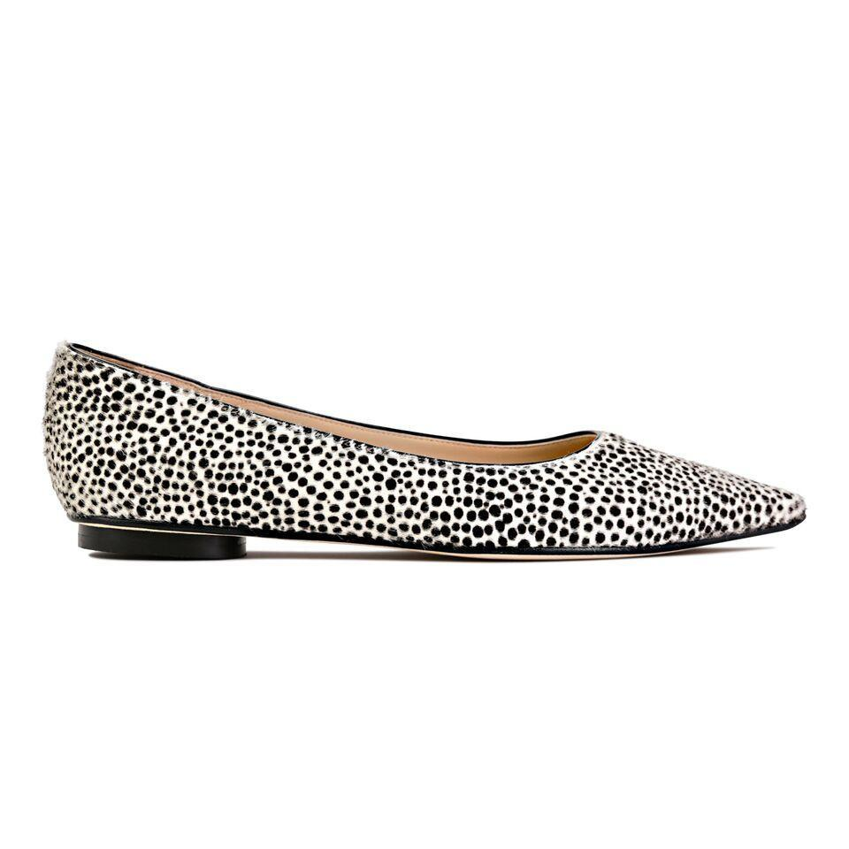COMO - Calf Hair Panna Cheetah, VIAJIYU - Women's Hand Made Sustainable Luxury Shoes. Made in Italy. Made to Order.