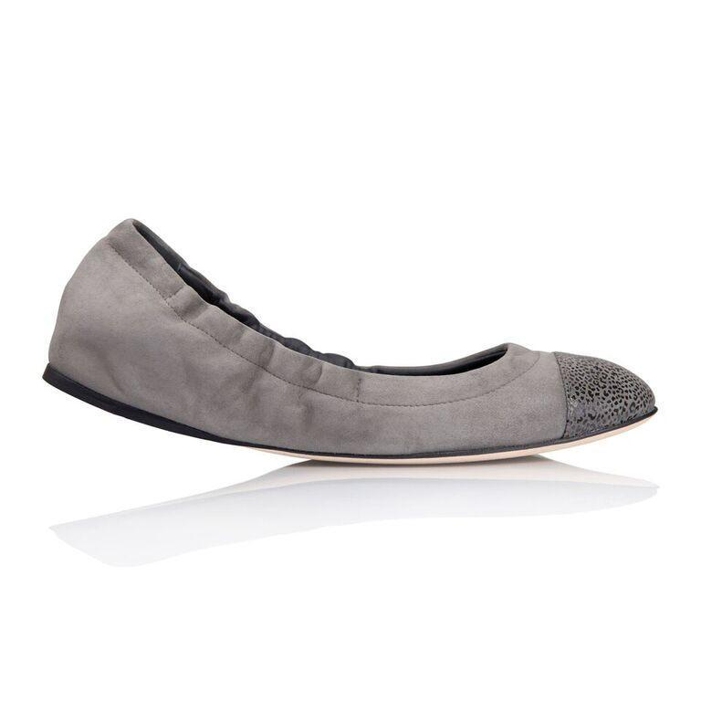 PORTOFINO - Velukid Anthracite + Savannah, VIAJIYU - Women's Hand Made Sustainable Luxury Shoes. Made in Italy. Made to Order.