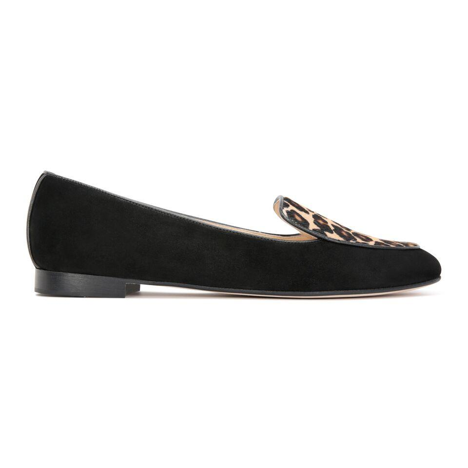 REGGIO - Velukid Nero + Calf Hair Congo, VIAJIYU - Women's Hand Made Sustainable Luxury Shoes. Made in Italy. Made to Order.