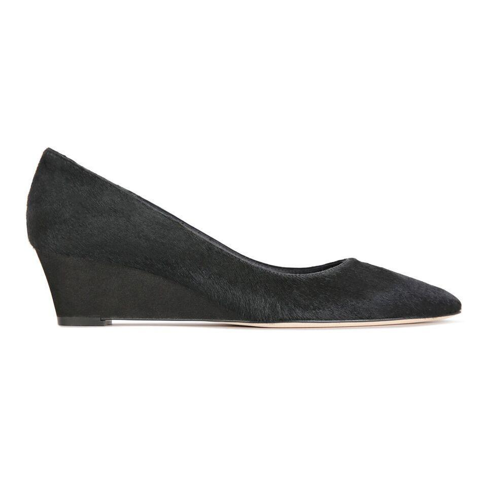 TRENTO - Calf Hair Nero + Hydra Nero, VIAJIYU - Women's Hand Made Sustainable Luxury Shoes. Made in Italy. Made to Order.