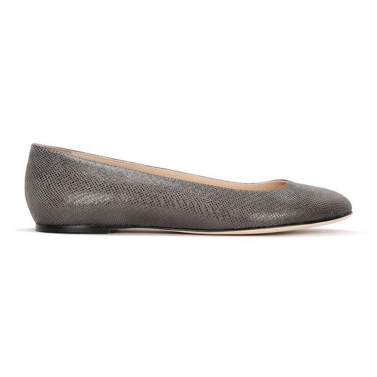 ROMA - Karung Anthracite, VIAJIYU - Women's Hand Made Sustainable Luxury Shoes. Made in Italy. Made to Order.