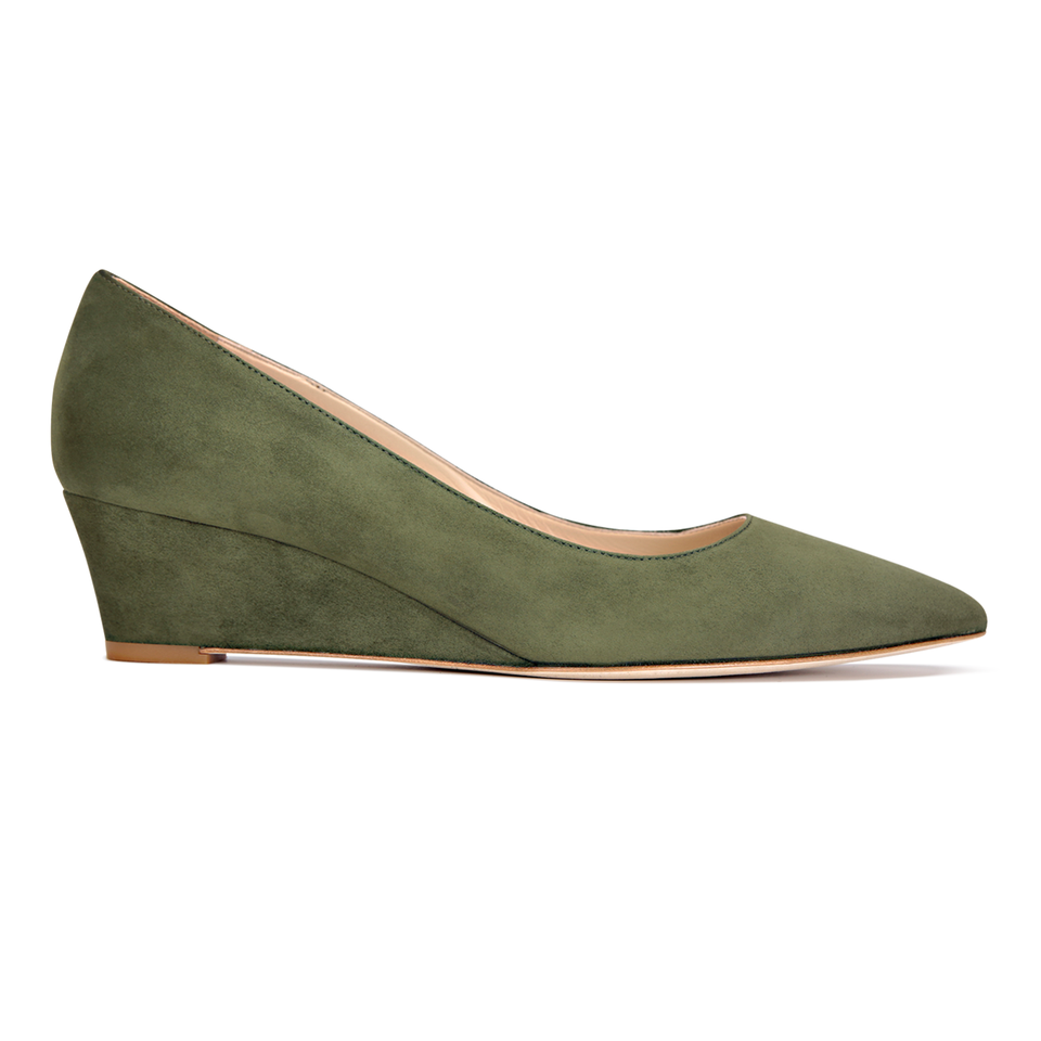 TRENTO - Velukid Moss, VIAJIYU - Women's Hand Made Sustainable Luxury Shoes. Made in Italy. Made to Order.