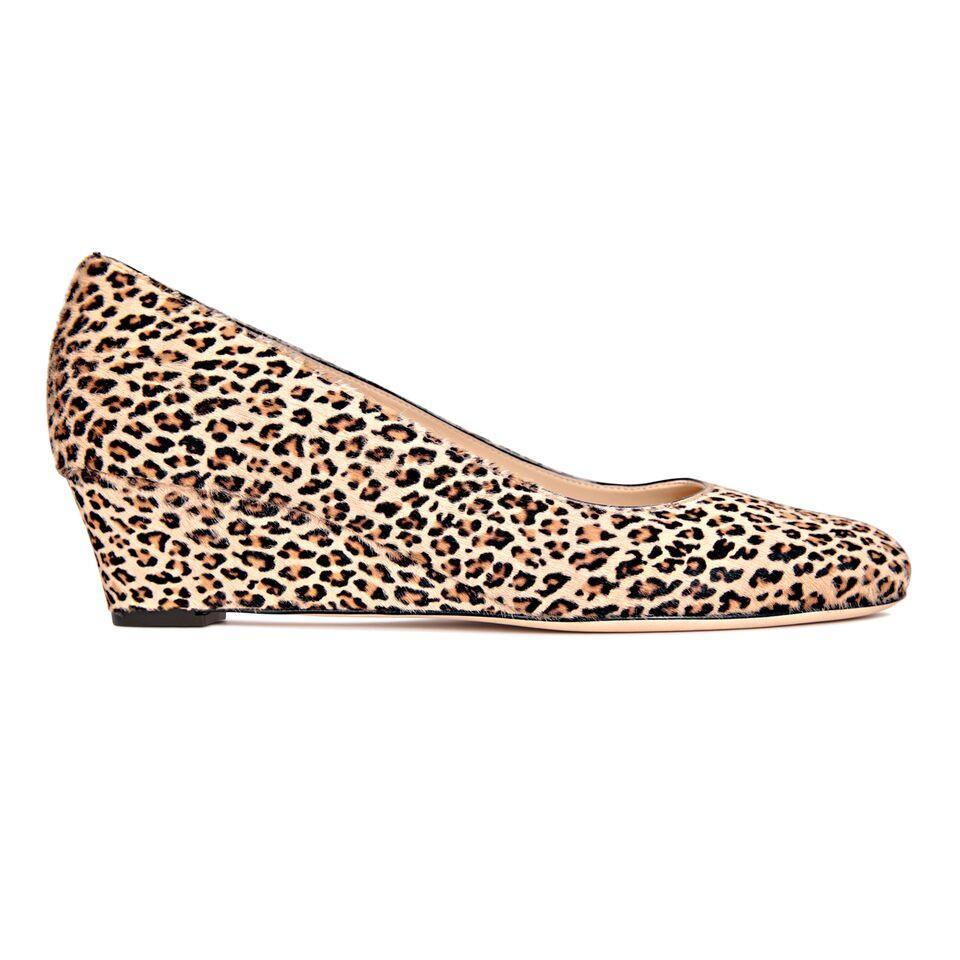 BERGAMO - Calf Hair Dune Minipard, VIAJIYU - Women's Hand Made Sustainable Luxury Shoes. Made in Italy. Made to Order.