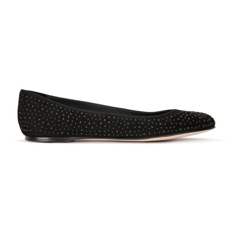 VENEZIA - Velukid Nero + Tiny Matte Black Studs, VIAJIYU - Women's Hand Made Sustainable Luxury Shoes. Made in Italy. Made to Order.