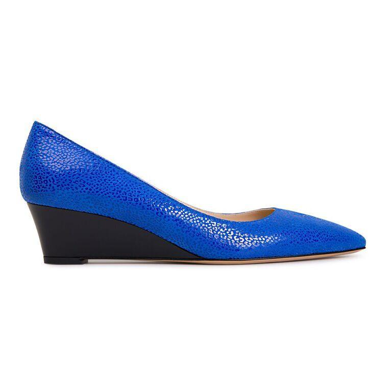 TRENTO - Savannah Cobalt + Patent Nero - VIAJIYU Shoes