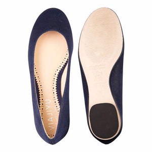 ROMA - Hydra Midnight, VIAJIYU - Women's Hand Made Sustainable Luxury Shoes. Made in Italy. Made to Order.
