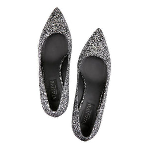 TRENTO (glitter), VIAJIYU - Women's Hand Made Sustainable Luxury Shoes. Made in Italy. Made to Order.