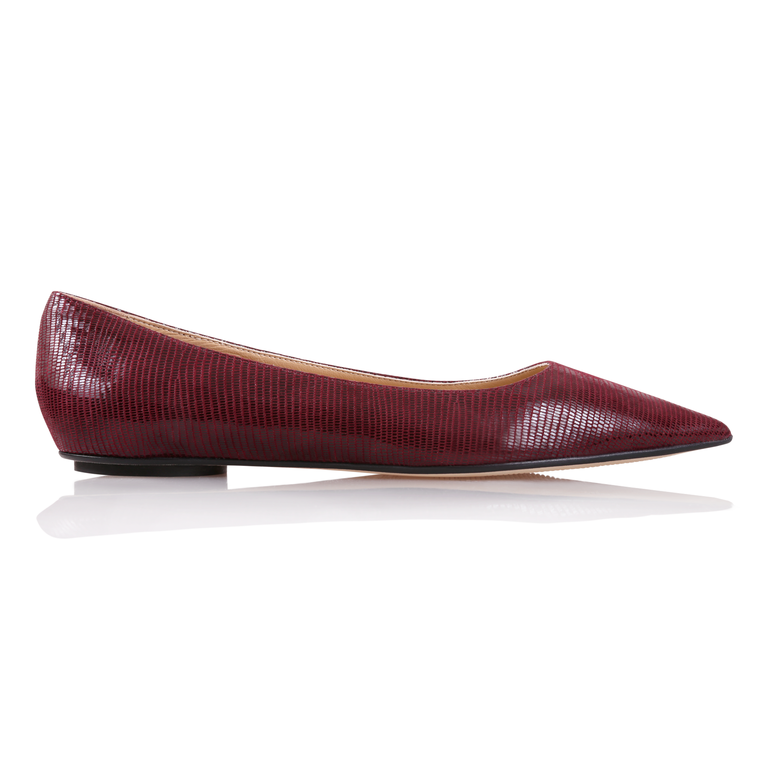 COMO - Varanus Garnet, VIAJIYU - Women's Hand Made Sustainable Luxury Shoes. Made in Italy. Made to Order.