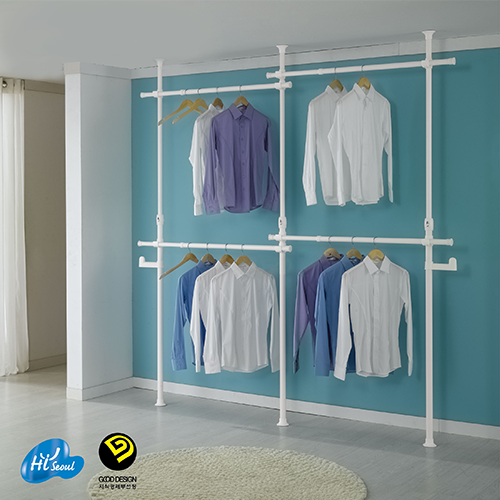 4 Tiers Flexible Clothes Rack