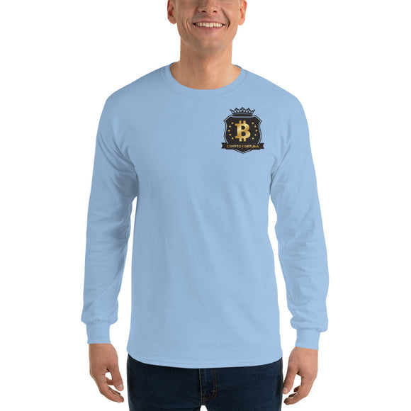 Crypto Fortuna small logo Cotton Long Sleeve T-Shirt