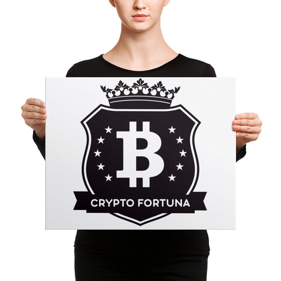 Crypto Fortuna Black & White Canvas