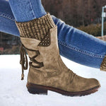 Latest Winter Warm Back Lace Up Boots - 50% OFF Today - 7 Bess