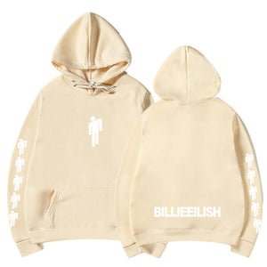 Billie Eilish 3D Printed Hoodie--White Painting - 7 Bess