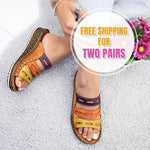 2020 Three-color Stitching Women's Summer Sandals - 7 Bess