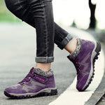Women's winter thermal villi leather platform fashion high top boots - 7 Bess