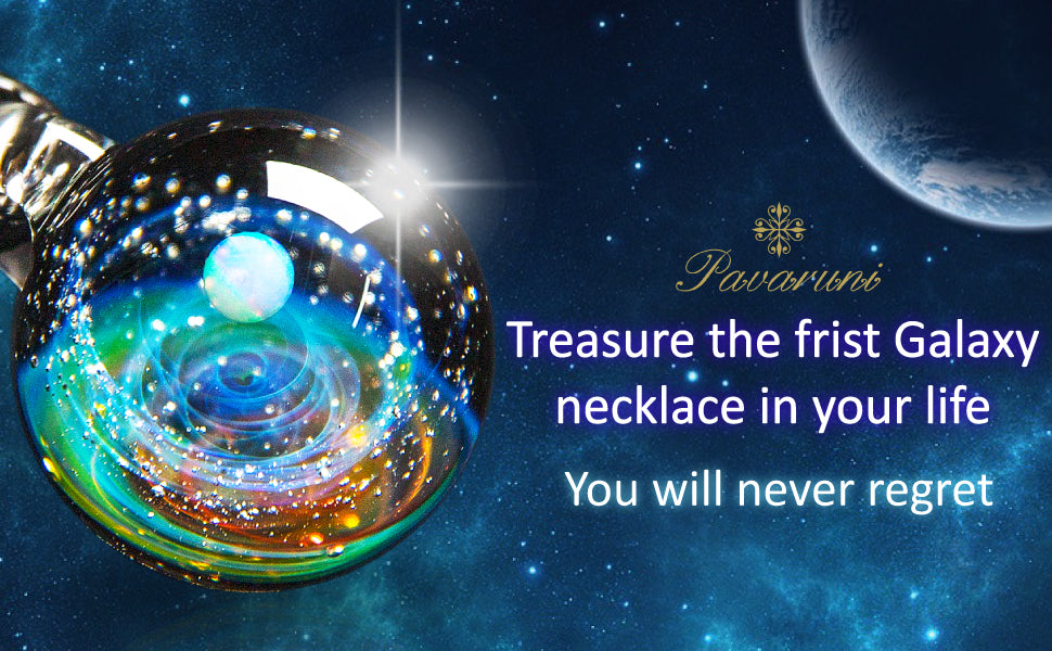 Pavaruni Original Galaxy Pendant Necklace - 7 Bess
