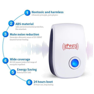 2020 Upgrated Pest Control Ultrasonic Repellent(50% OFF TODAY) - 7 Bess