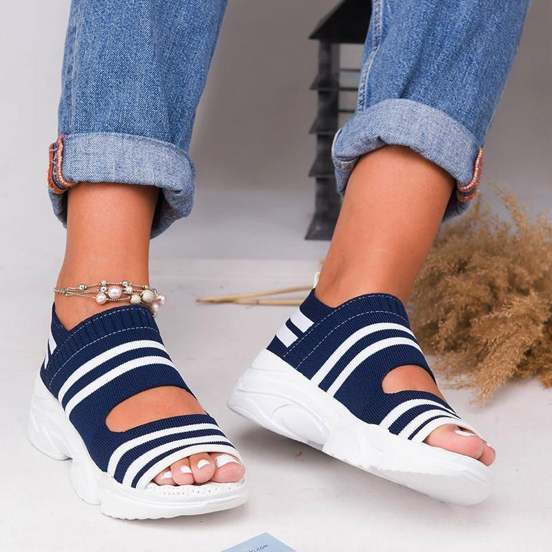 Women Breathable Comfy Sandal Shoes - 7 Bess