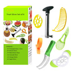 9pcs Fruit Cutting Peeler Set Scoop Slicer for Pine apple  Watermelon Bananas - 7 Bess