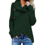 Autumn Winter Casual Daily Polyester Slightly stretchy Asymmetrical Sweater - 7 Bess