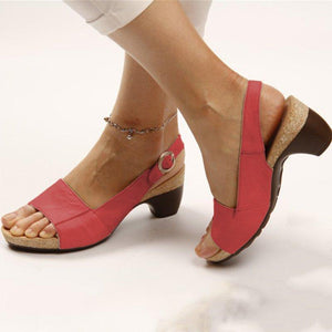 🔥50% OFF🔥Comfortable Elegant Low Chunky Heel Sandals - 7 Bess