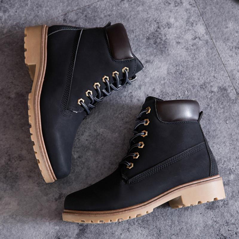 Unisex Casual Lace Up Martin Boots - 7 Bess