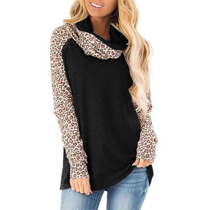 Long Sleeve Leopard Turtleneck Sweater - 7 Bess