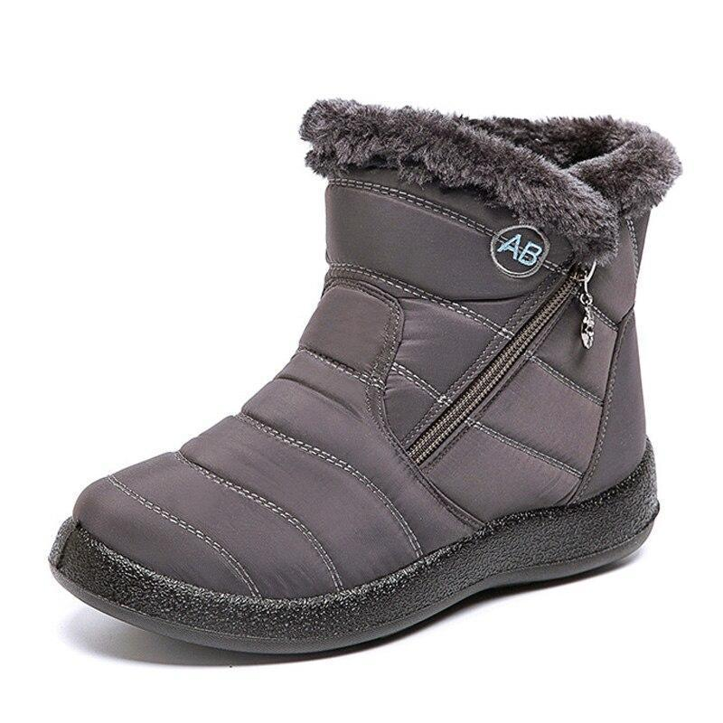 Ankle Boots For Women Boots Fur Warm Snow Boots - 7 Bess