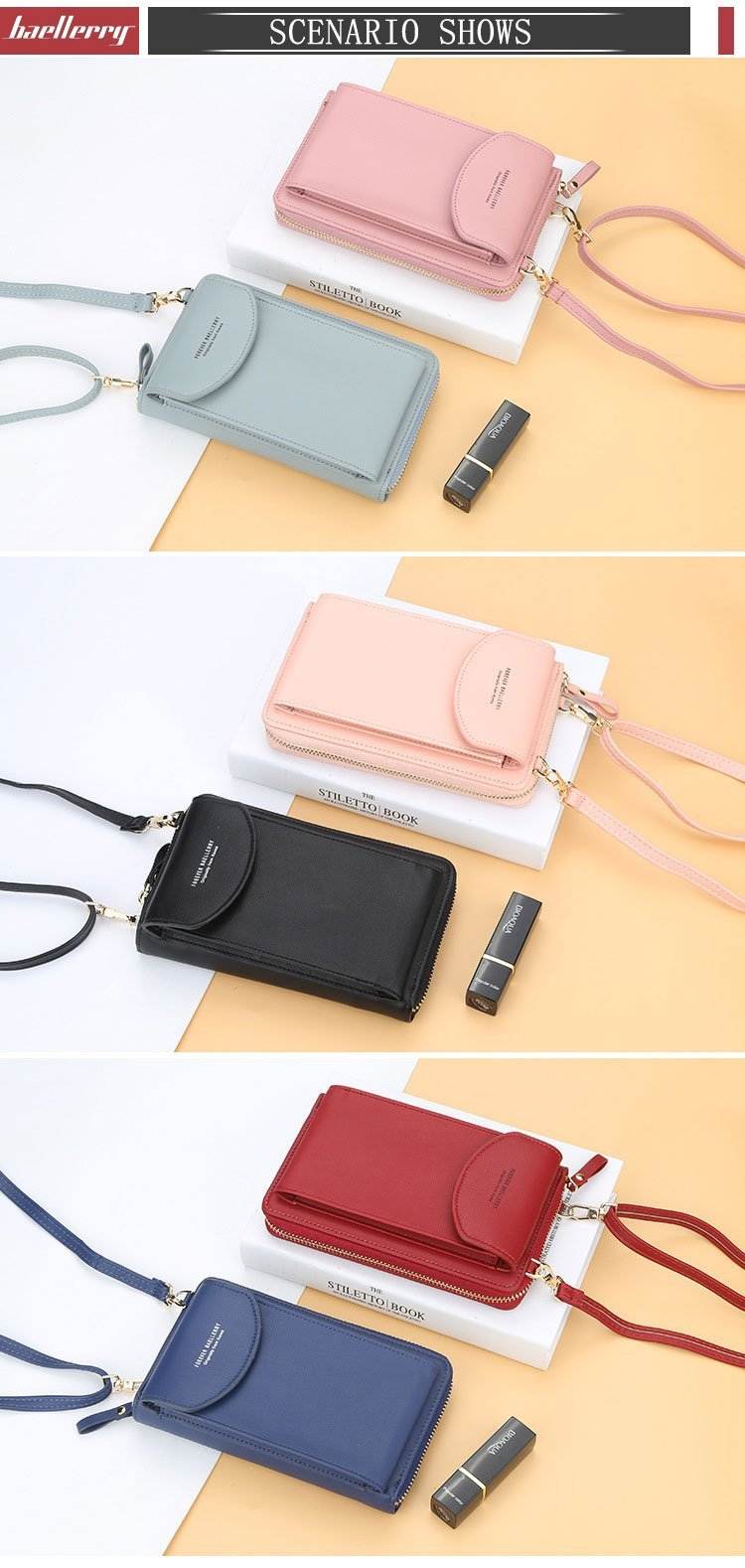 💥Buy 1 Get 1 Free💥 2 AEQUEEN Coin Cell Phone  Small Crossbody Bag - 7 Bess