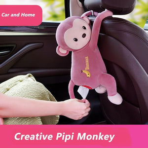 Monkey hanging tissue box fun toy 【Buy1 get 1 free】 - 7 Bess