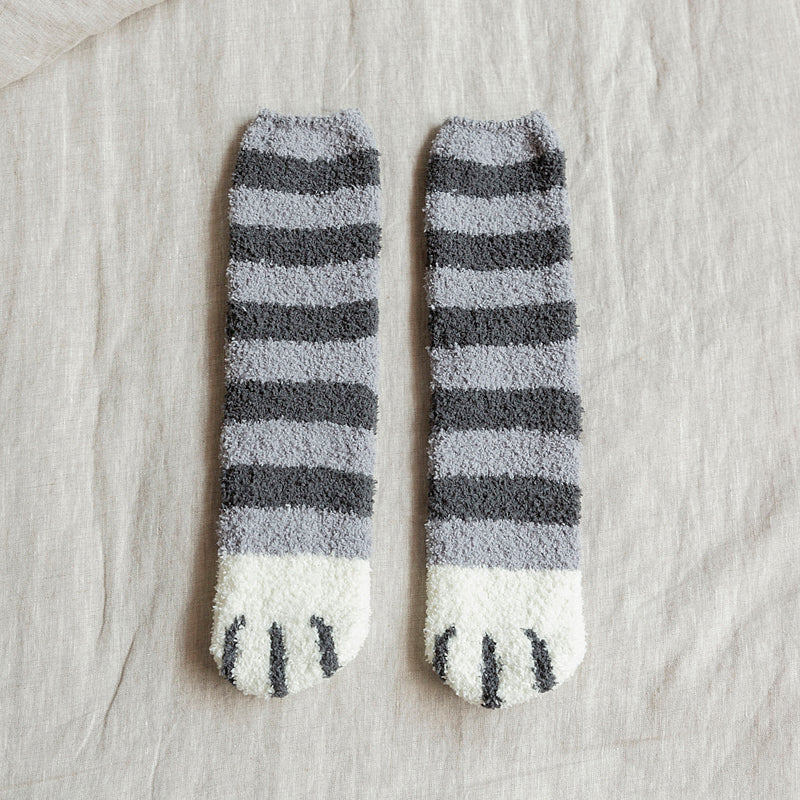 【3 Pairs】Cute Cat Claws Thick Warm Socks 🐾 - 7 Bess