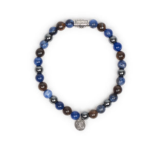 Pulsera Grey and Blue by Gerba Jewels