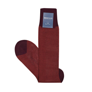 Calcetines Bresciani Bordeaux Marrone