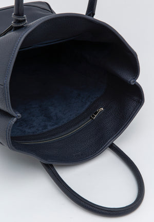 NUEVO!Bolsa Acate Sirocco Leather Navy Blue