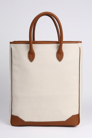 NUEVO!Bolsa Acate Sirocco Brown Leather Canvas