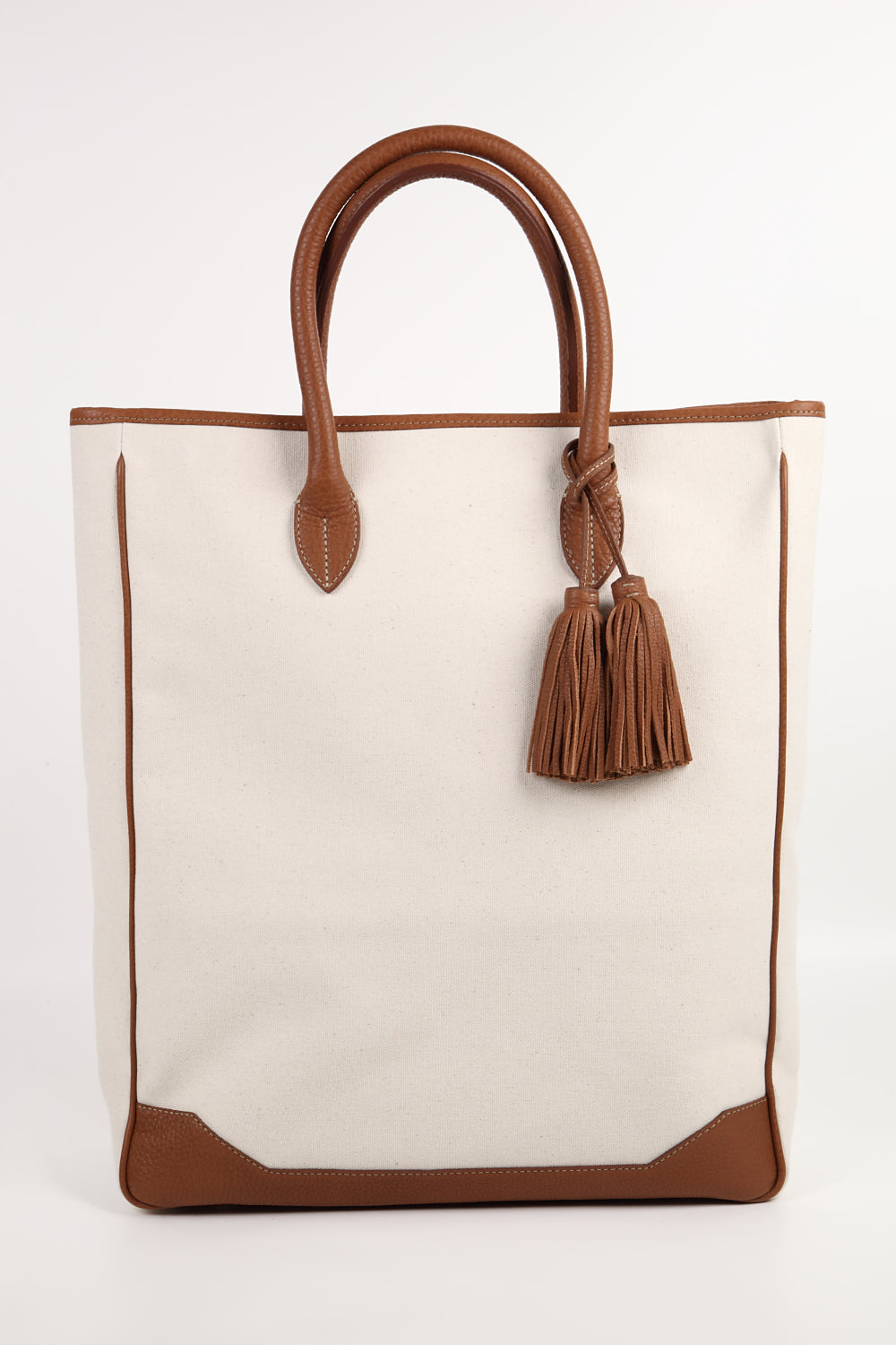 !Bolsa Acate Sirocco Brown Leather Canvas