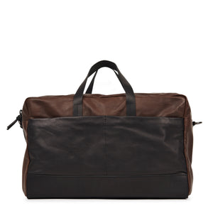 Bolsa Weekend Bag Leather Black Brown