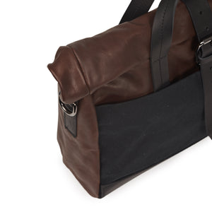 Bolsa Rollup Laptop Black Brown