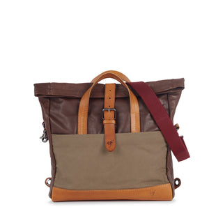 Bolsa Rollup Laptop Brown Green
