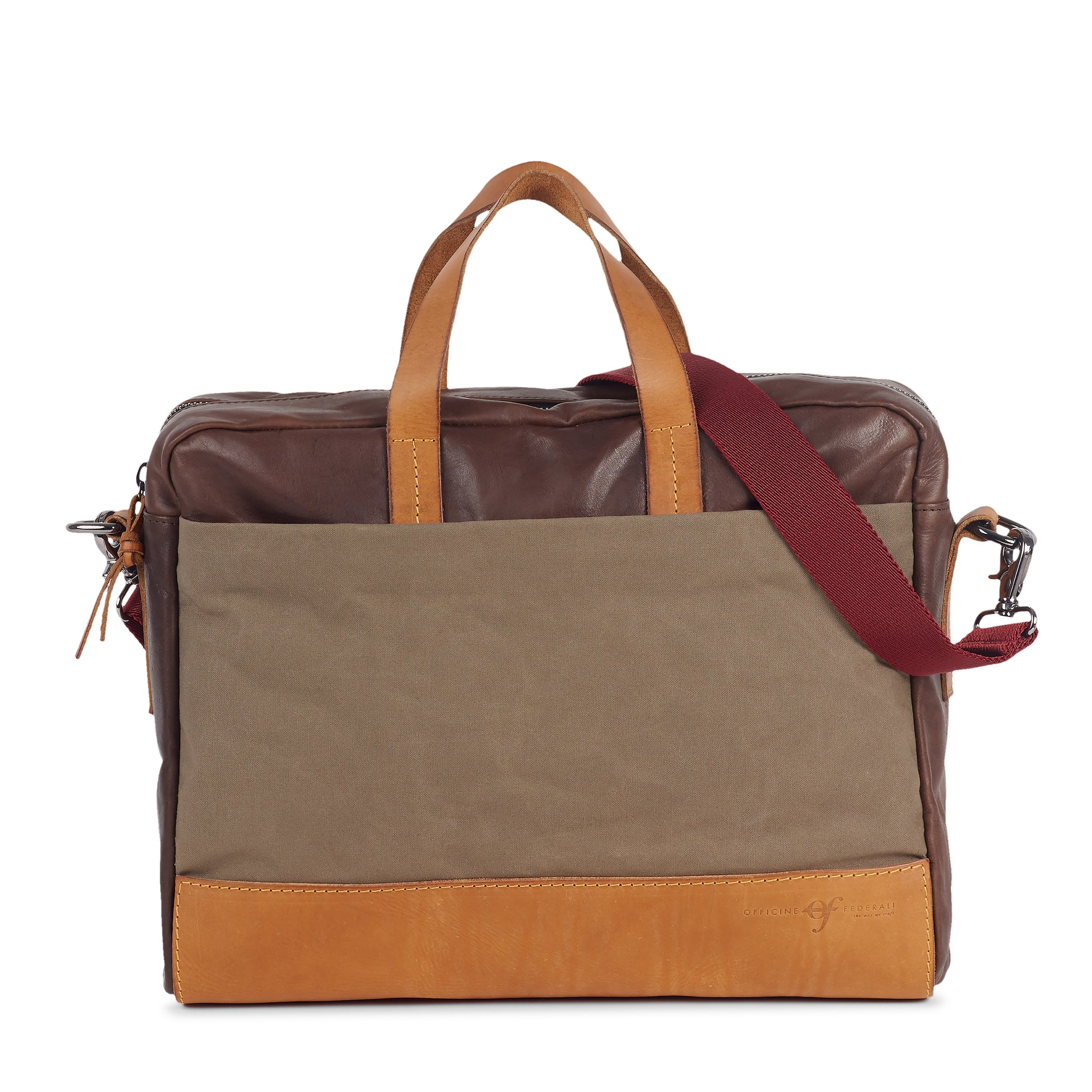 Bolsa Briefcase Brown Green