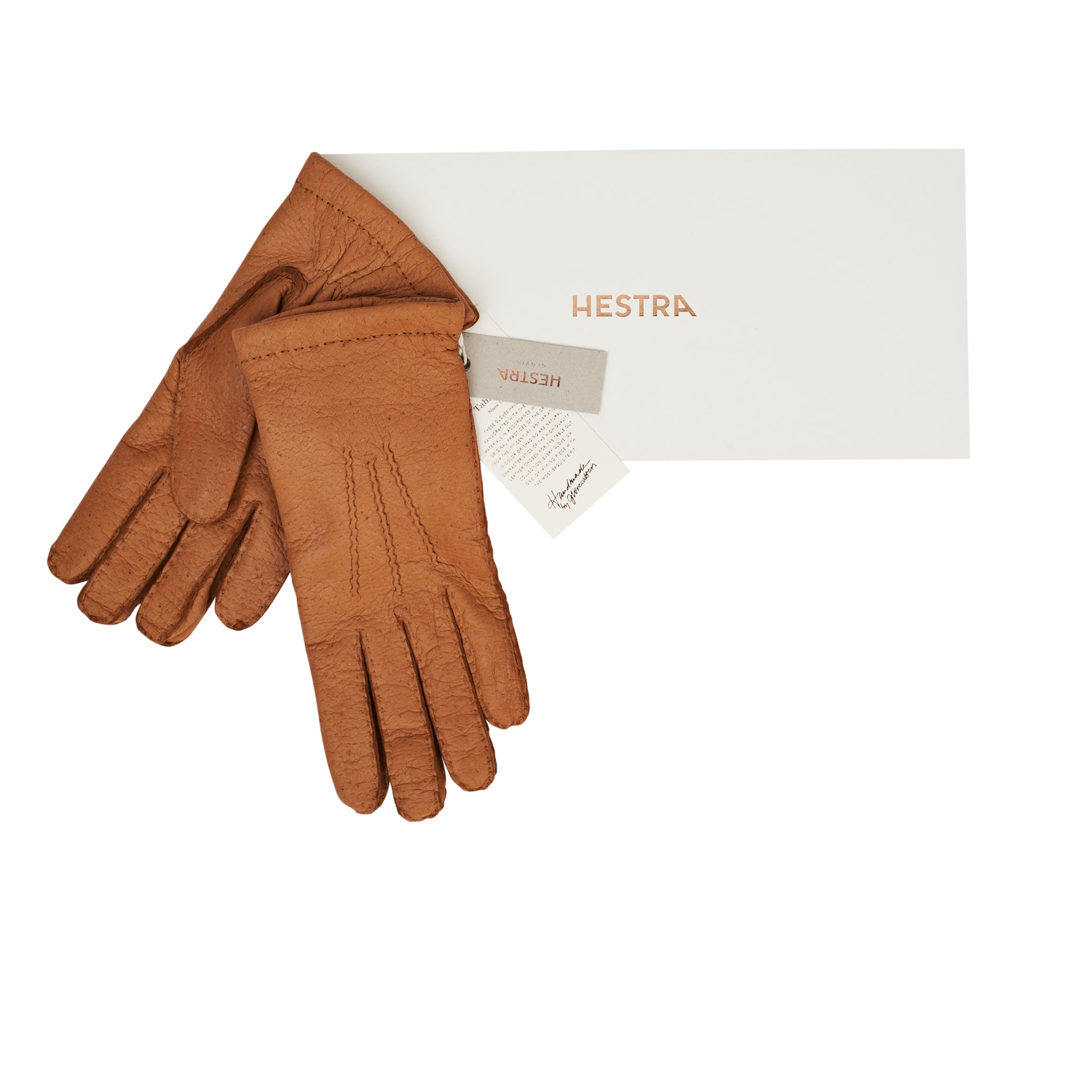 Guantes Peccary Handsewn Cashmere Cork
