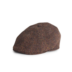 Gorra Henry Harris Tweed Herringbone marrón